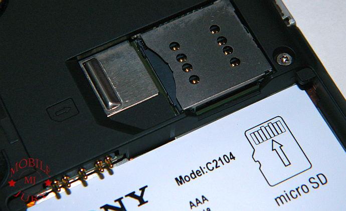 Sony slot
