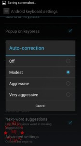 Auto correction levels