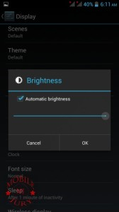 Brightness options