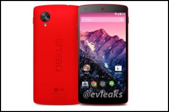 LG Nexus 5 in red color