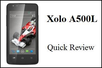 Xolo A500L Quick Review- ftrd