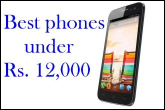 Best phones under Rs 12,000
